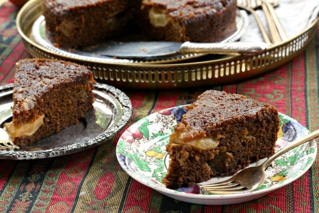Sticky Upside Down Apple Gingerbread is a rich and very moist cake with beautifully balanced spicing. Serve on its own - no frosting or ice cream necessary.