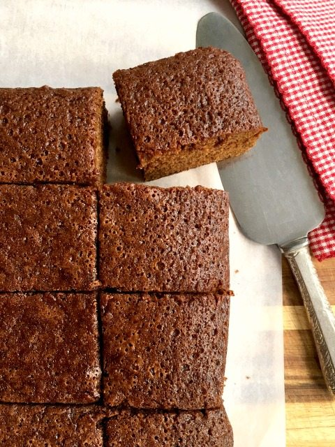 one-bowl gingerbread cake for a crowd: Beautifully spiced and with a texture that is just dense enough