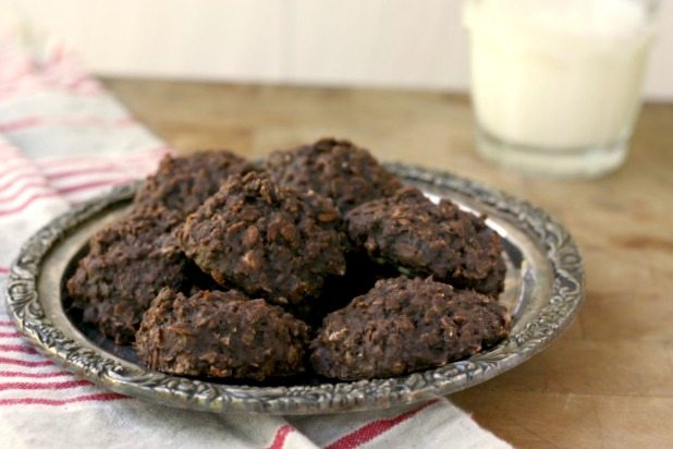 No-Bake Chocolate Oatmeal Frog Cookies are quick and easy so kids can make them on their own and they don't heat up the house on warm days.