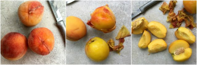 How to skin peaches