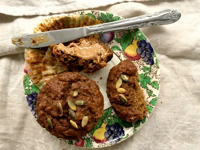 Apple cider pumpkin muffins are refined-sugar-free - sweetened only with molasses and maple syrup.