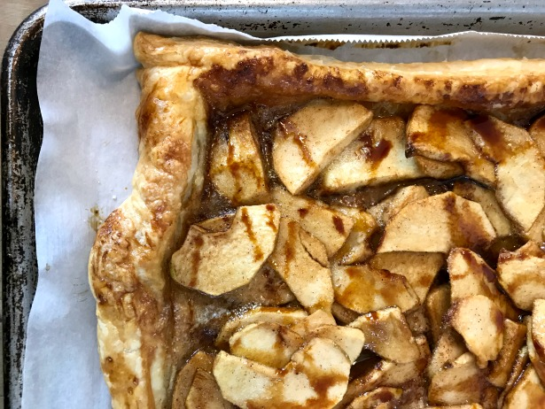 "Intimidated by pastry? No worries. You can make this ""easiest apple tart"" using tasty store-bought pastry. A touch of molasses is the secret ingredient that keeps the apples from drying out and adds flavour to the sweet."