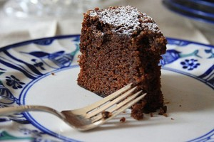 Rich dark molasses cake with coffee and chocolate. Moist and delicious.