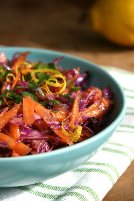 carrot cabbage slaw with citrus dressing