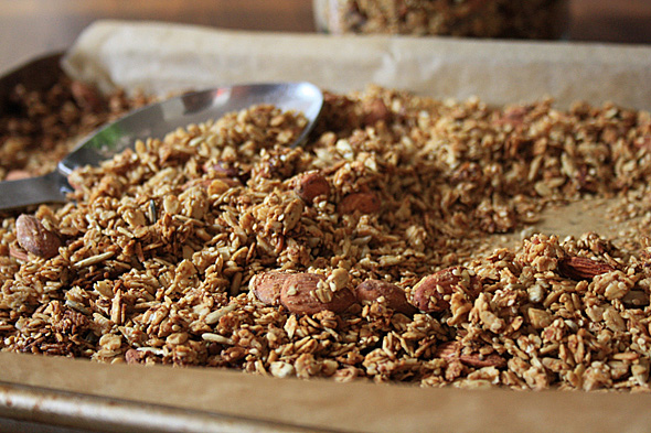 Molasses granola is just sweet enough