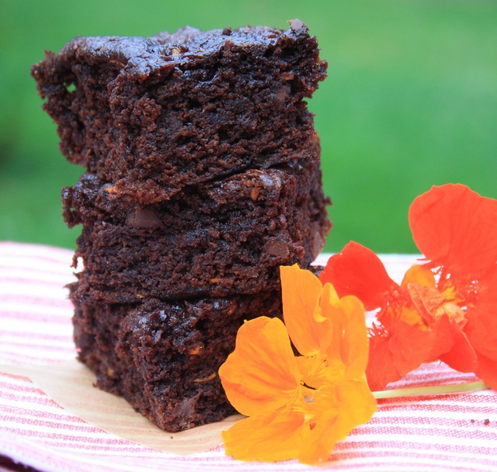 zucchini brownies with molasses and flax  crosby's molasses