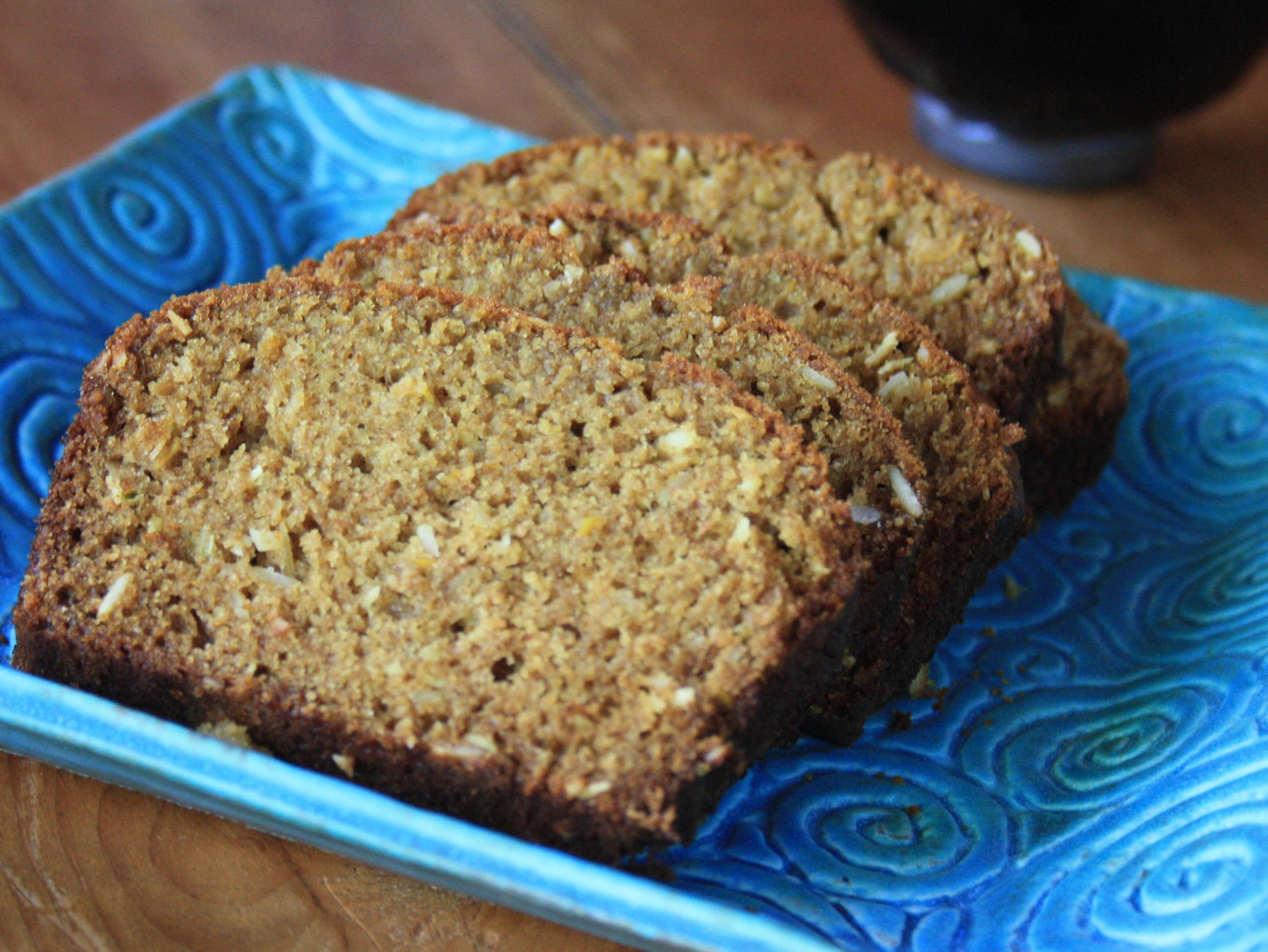 Whole Wheat Zucchini Bread with Molasses