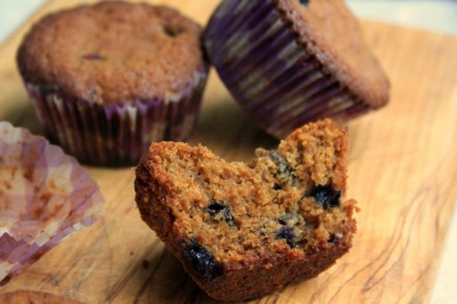 dense and spicy ginger molasses muffins