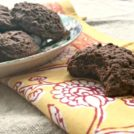 Fudgy flax cookies: dense double chocolate cookies that taste a little healthy