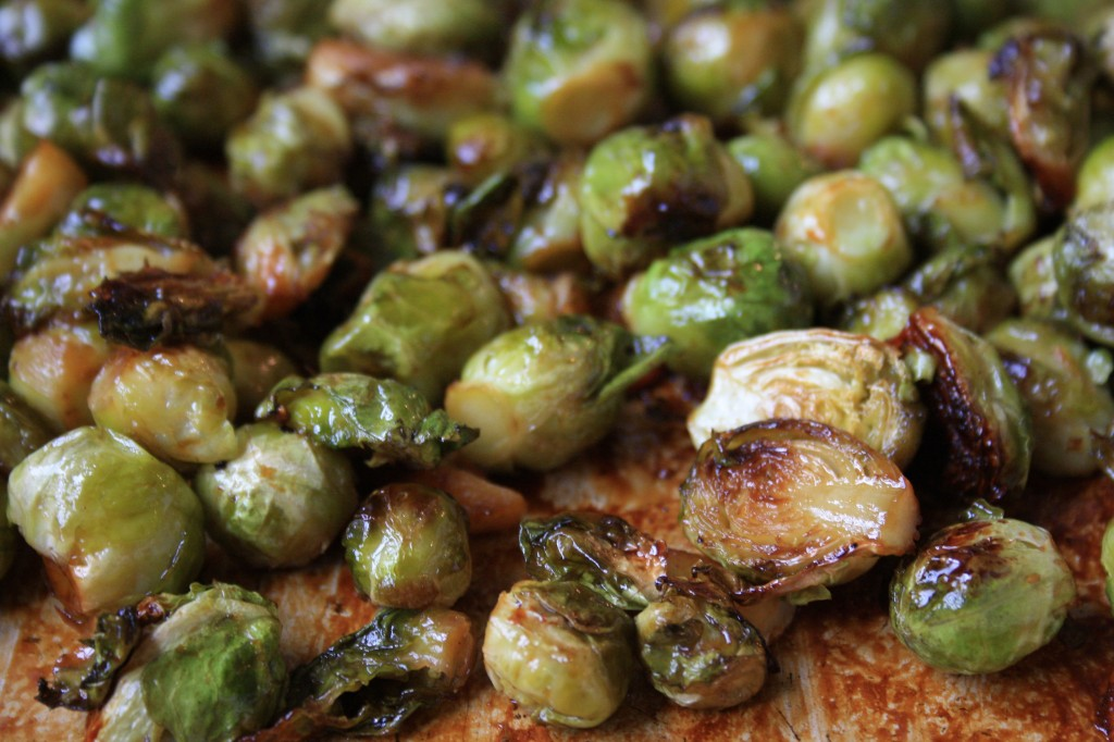 Roasted Brussels sprouts with molasses