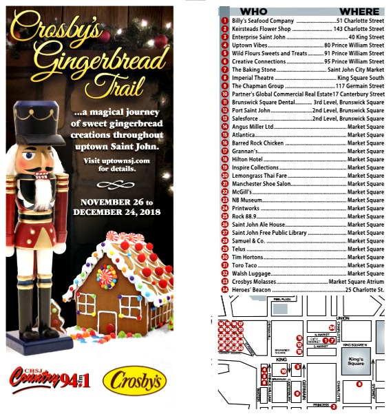 Gingerbread Trail Map 2018
