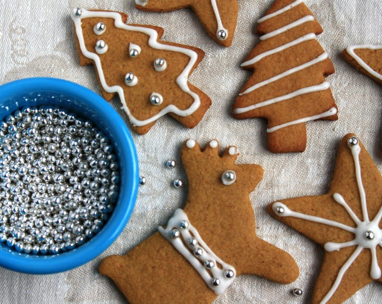 Whole wheat gingerbread cut out cookies