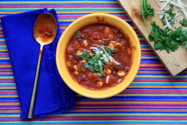 Vegetarian Black Bean Chili is hearty and warming and reminds you that a substantial meal does more than just fill the belly.