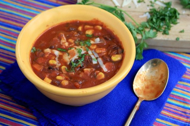Black Bean Chili is hearty and warming and reminds you that a substantial meal does more than just fill the belly.