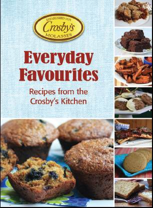 A free e-book featuring wholesome comfort food, including cranberry apple crisp, molasses cookies, molasses glazed shrimp, molasses sticky buns and more