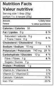 Nutrition - blackstrap