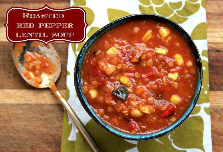 roasted red pepper lentil soup