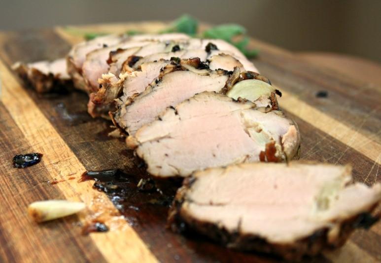 Molasses glazed pork tenderloin for Easter Dinner in under an hour