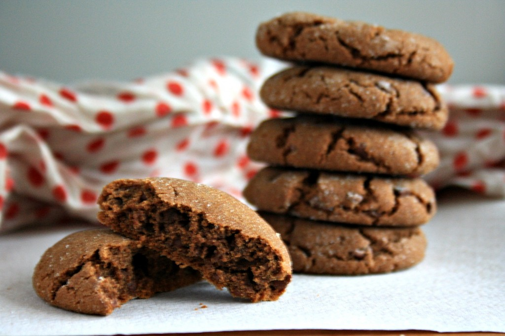 Chewy chocolate molasses crinkles dipped in white chocolate are chewy and delicious