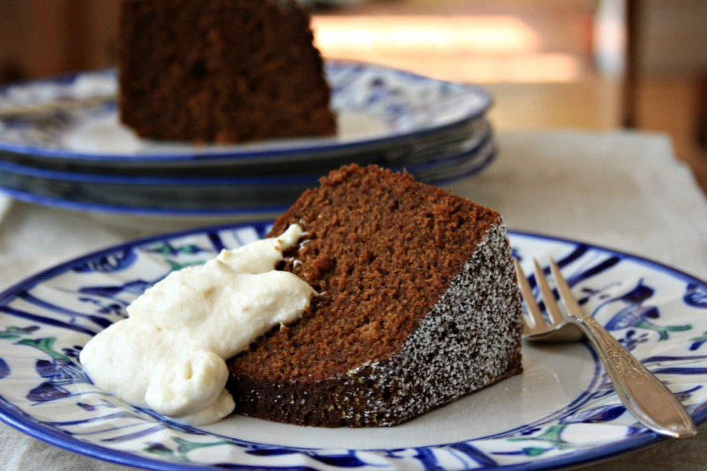 Espresso molasses cake is moist, delicious and festive, just right for any celebration.