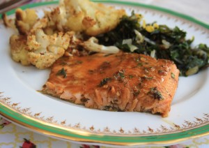 Molasses glazed trout with orange and thyme is fast and family friendly
