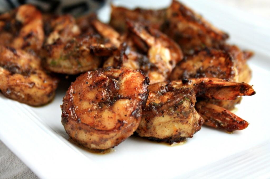 Spicy shrimp recipe with citrus avocado dipping sauce