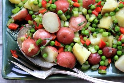 potato salad in molasses vinaigrette non-mayonaise