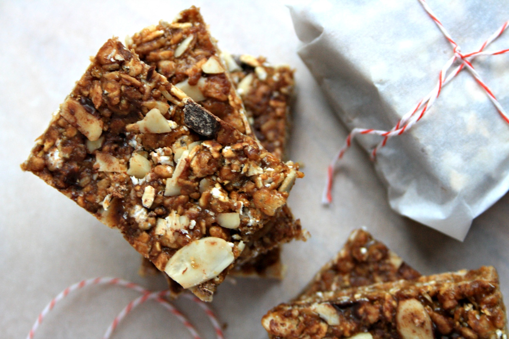 Almond butter cereal bars a tasty remake of the 1970s