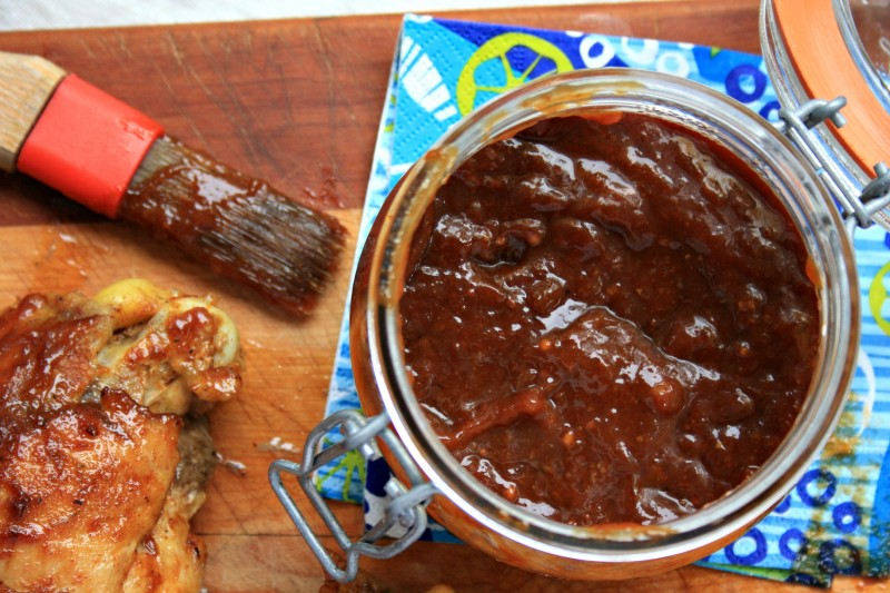 Julie's rhubarb barbecue sauce