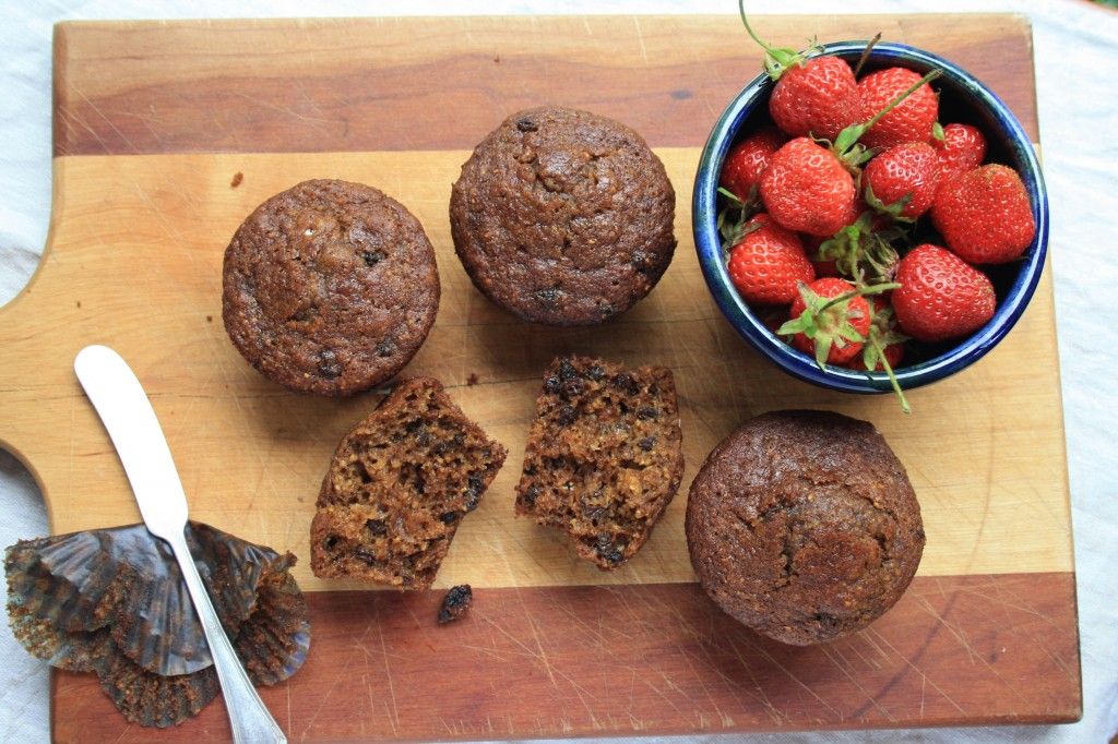 Boston brown bread muffins are moist, light and flavourful