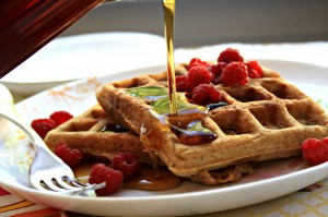 molasses flax waffles