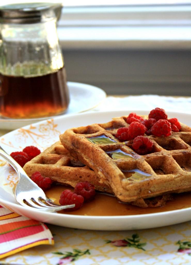molasses flax waffles