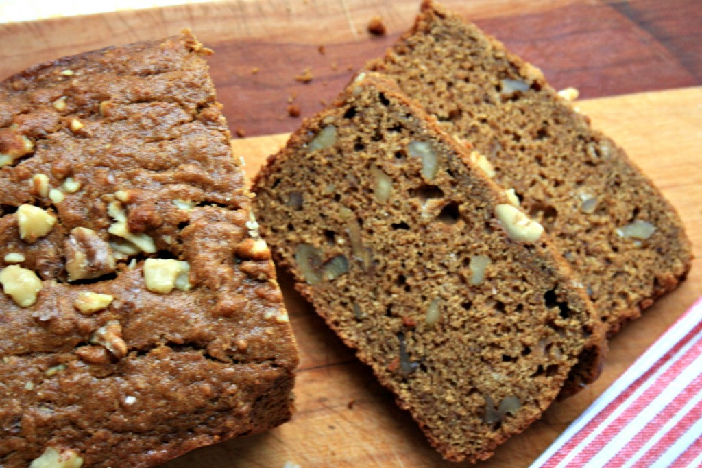 Molasses walnut loaf recipe with whole wheat flour