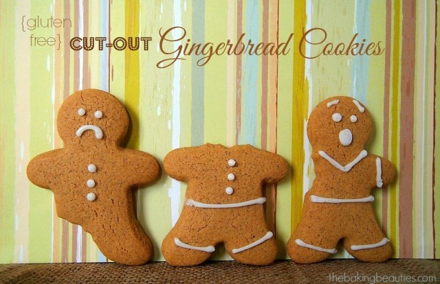 Gluten free gingerbread cut out cookies