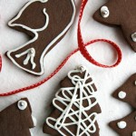 chocolate gingerbread cut-out cookies