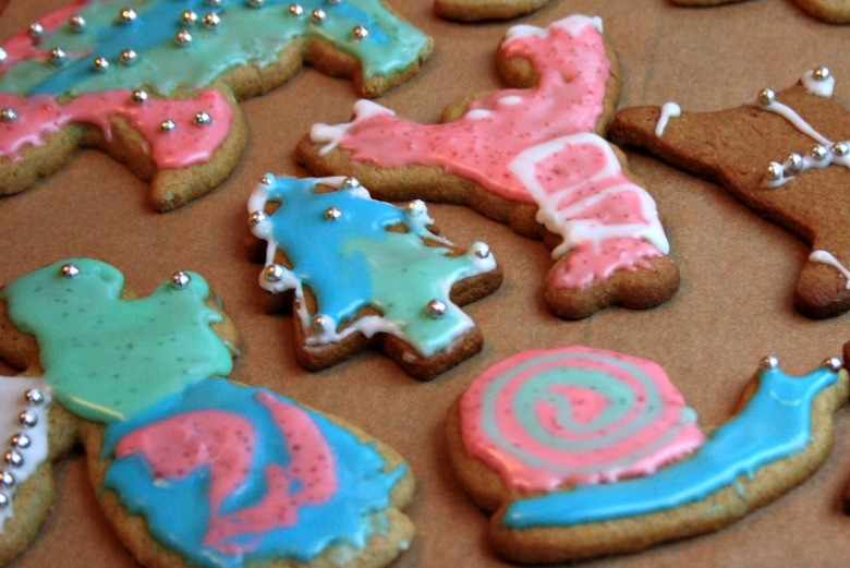 Christmas Crafts For Kids Painting Cookies With Tinted Frosting