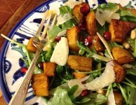 roasted squash salad with cider vinaigrette