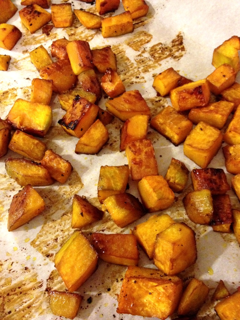 Roasted squash salad -squash
