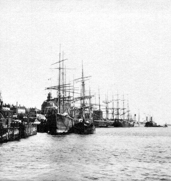 Sailing ship with molasses cargo