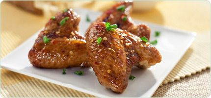 garlic chili rum wings