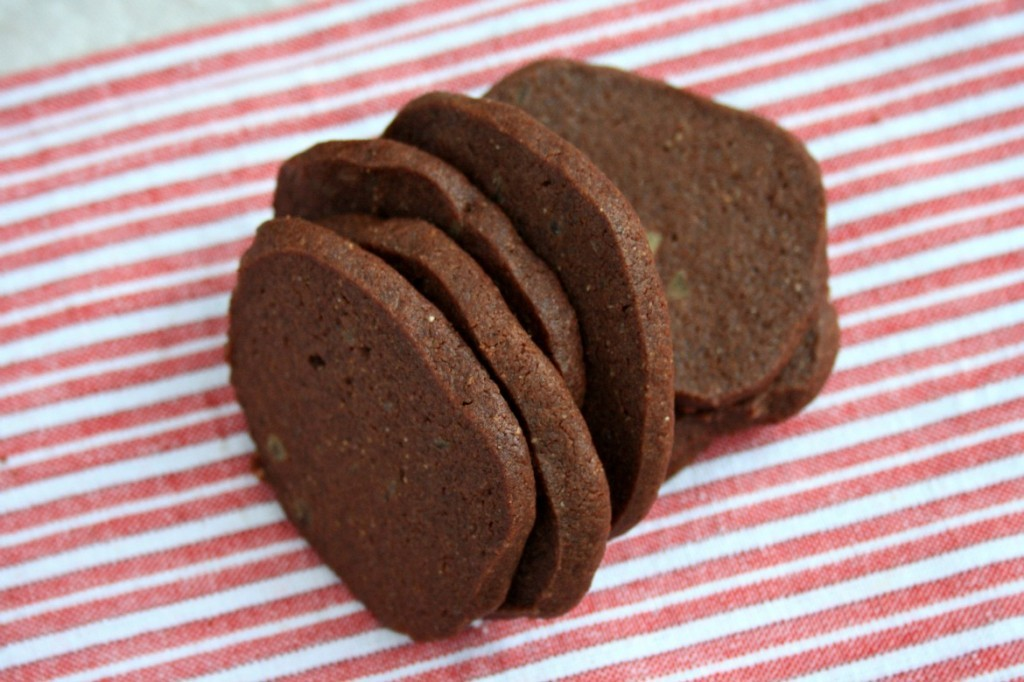 Crispy Chocolate Gingersnaps studded with crystalized ginger