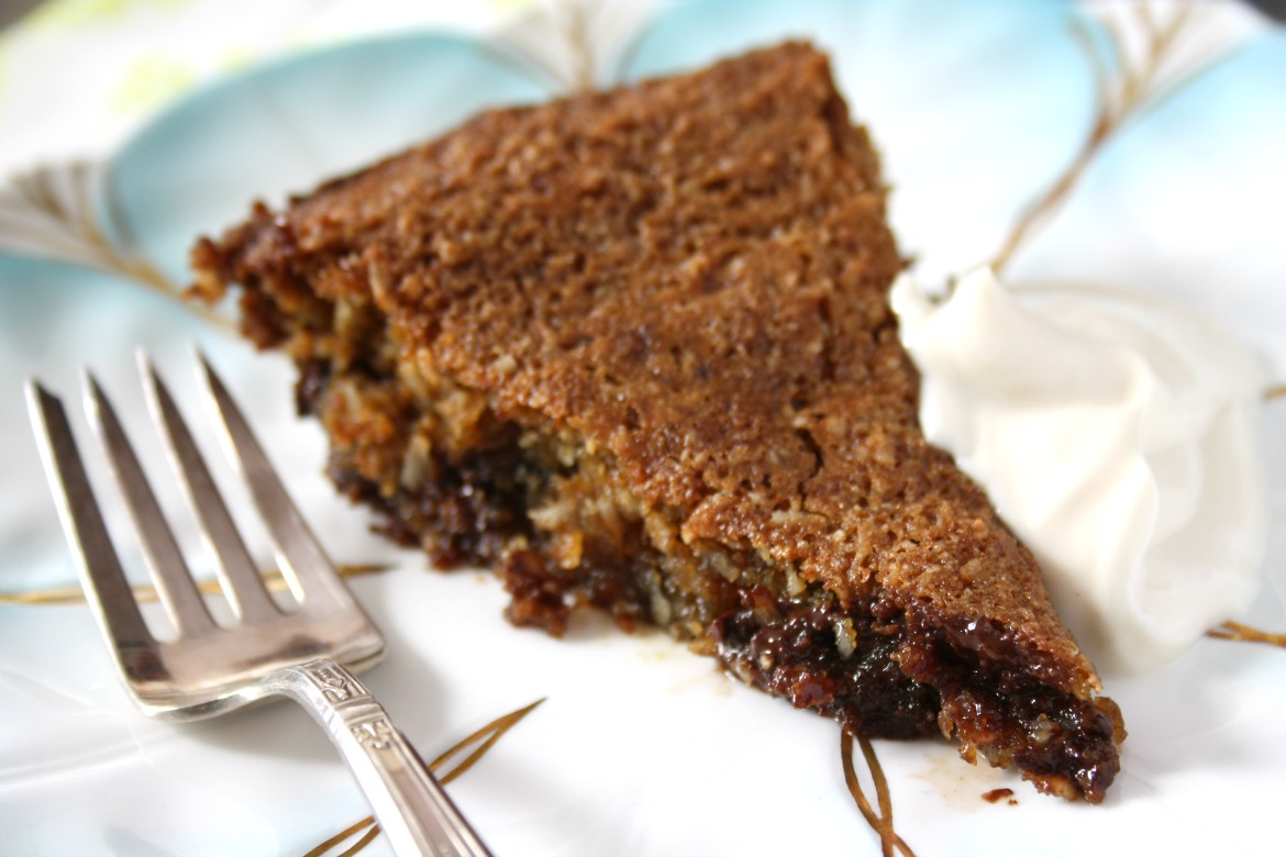Chocolate Chip Cookie Pie - gluten-free - Crosby's Molasses