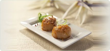 Molasses and Soy Glazed Scallops