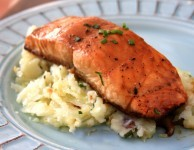 molasses and soy glazed salmon is quick and easy to prepare