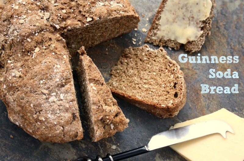 Hearty Guinness soda bread with molasses