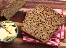 molasses brown bread is chewy and sweet, richly flavoured with molasses