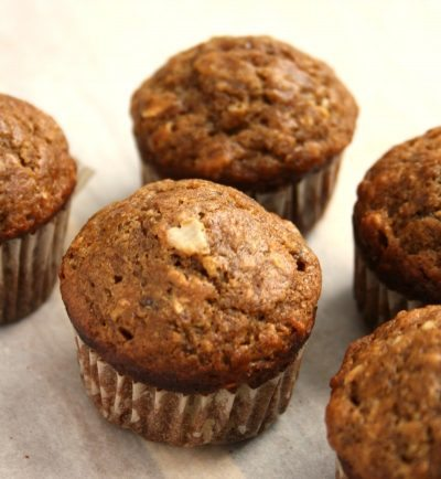wholesome banana oat muffins with molasses