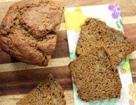 moist and flavourful molasses banana bread