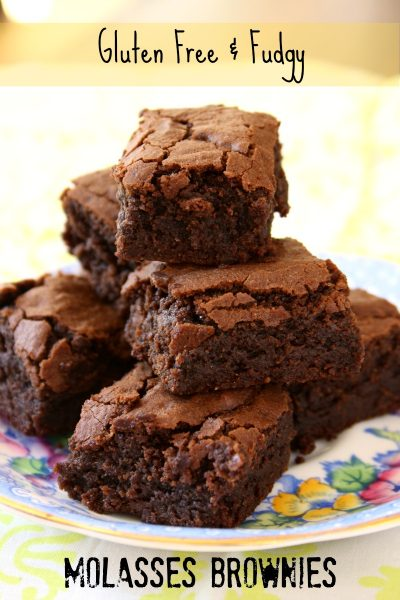 Gluten free and fudgy molasses brownies