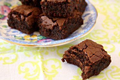 Gluten Free fudgy molasses brownies